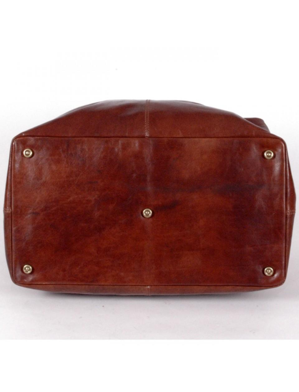 the bridge natural leather reisetasche 50 cm. Black Bedroom Furniture Sets. Home Design Ideas