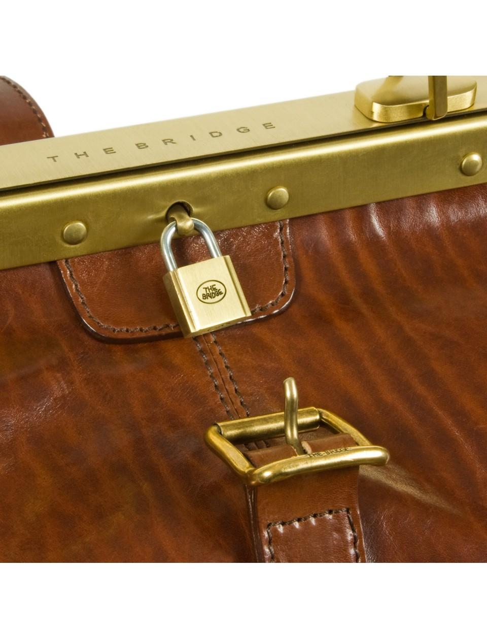 the bridge natural leather gladstone bag reisetasche. Black Bedroom Furniture Sets. Home Design Ideas