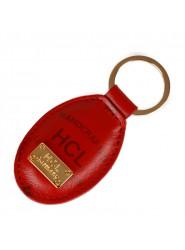 HCL Logo Kleinlederwaren Schlüsselanhänger in rot