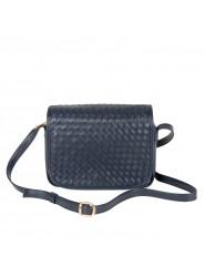 HCL Flecht Handtasche mit Überschlag