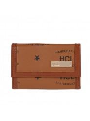 HCL Logo Kleinlederwaren Schlüsseletui mit Haken in natur